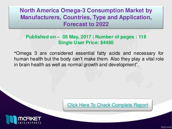 North American Omega-3 Consumption Market 2022