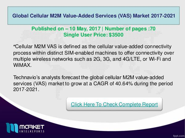 Global Cellular M2M Value-Added Services (VAS) Mar