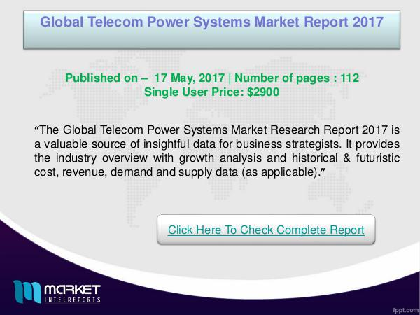 Global Telecom Power Systems Market Research Repor