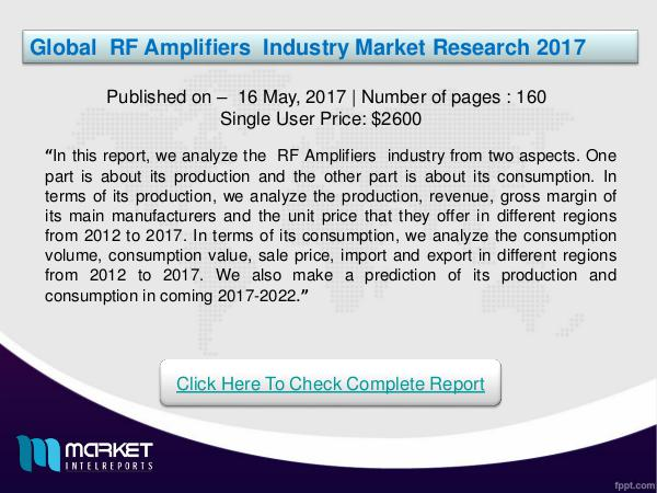 Global RF Amplifiers Industry Overview | Forecast