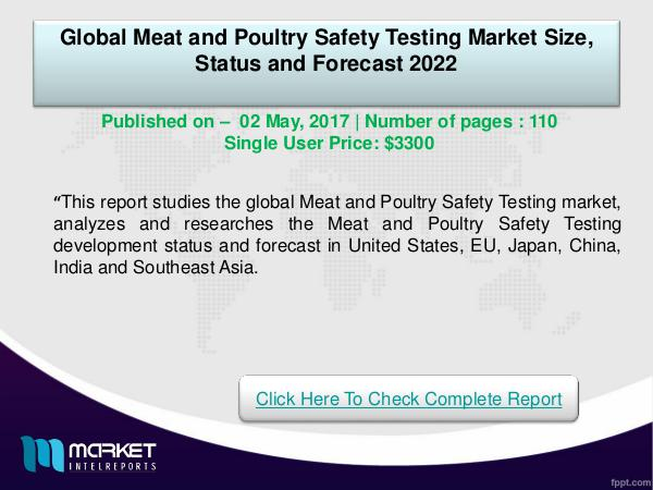 Global Meat and Poultry Safety Testing Market-2022