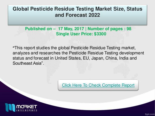 Global Pesticide Residue Testing Market -2022