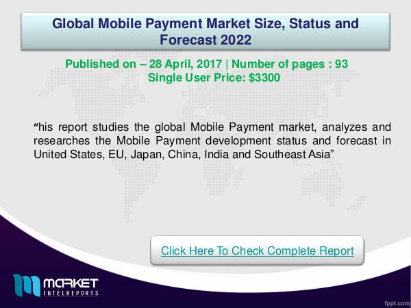Global Mobile Payment Market Overview | Forecast &