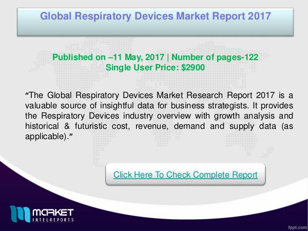 Global Respiratory Devices Market Analysis 2017