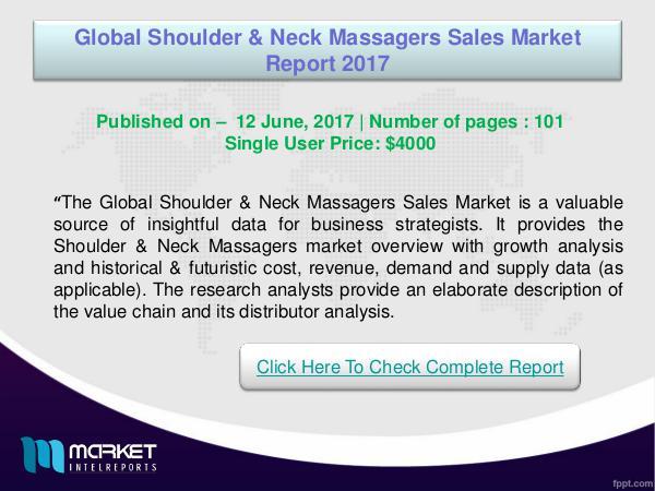 My first Magazine Global Shoulder & Neck Massagers Sales Market 2017