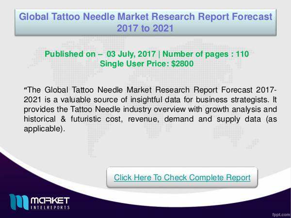 My first Magazine Global Tattoo Needle Market Overview | Forecast