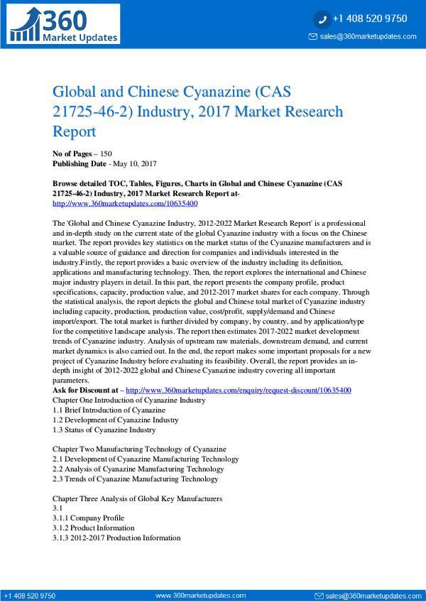 Report- Cyanazine-CAS-21725-46-2-Industry-2017-Market-Rese