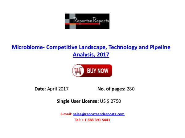 Microbiome Market Epidemiology Forecast Study 2017 Microbiome Market
