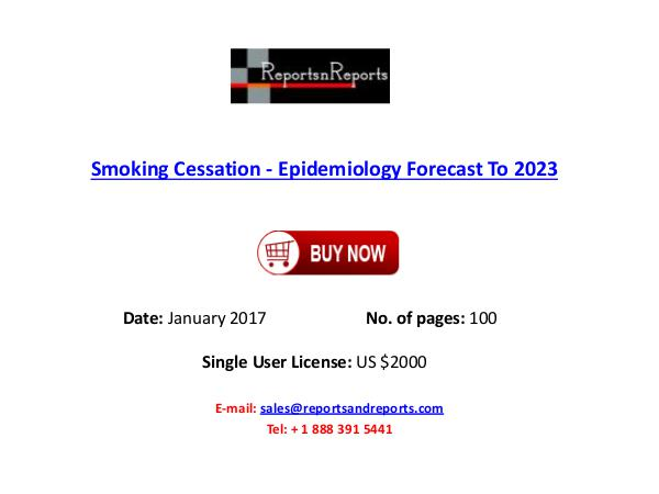 Smoking Cessation Industry Analysis and Forecast to 2023 Smoking Cessation Market
