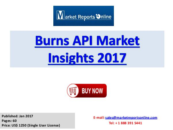 Global Burns API Market Overview Report 2017 Burns API Market