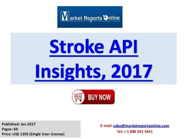 Stroke API Manufacturing Global Industry Insights Report 2017 Stroke-API Insights, 2017