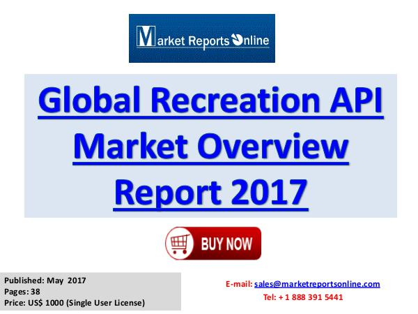 Recreation Market Insights 2017 Recreation Market