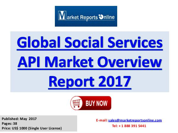 Social Services API Manufactures, Industry Analysis  2017 Social Services Market