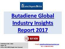 Global Butadiene Market Overview Report 2017