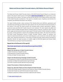 Cobalt Tetroxide Industry Global Market Trends, Share, Size and 2022