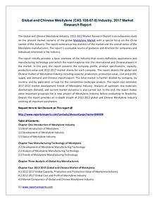 Global and Chinese Mesitylene (CAS 108-67-8) Industry, 2017 Market