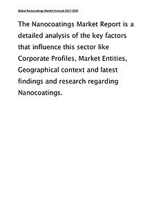 Nanocoatings Market Global Forecasts and Analysis Report 2017 – 2025