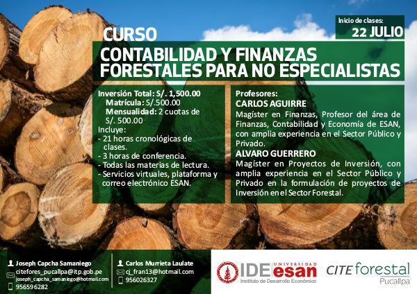 """Curso: """"Contabilidad y Finanzas Forestales para no especialistas"""" Esan - CITEforestal Pucallpa"""