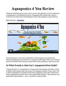 Aquaponics 4 You PDF / Reviews