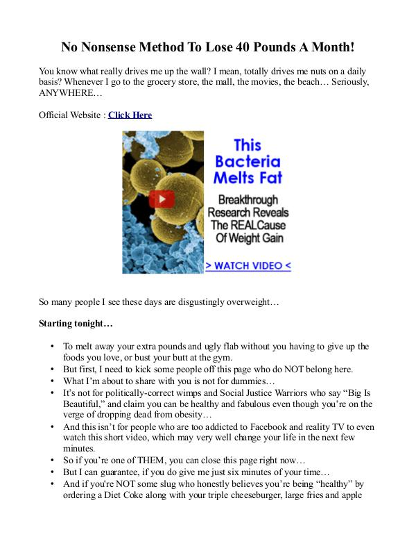 No Nonsense Fat Melting System PDF / eBook Is Ted Tanner's Program Free Download