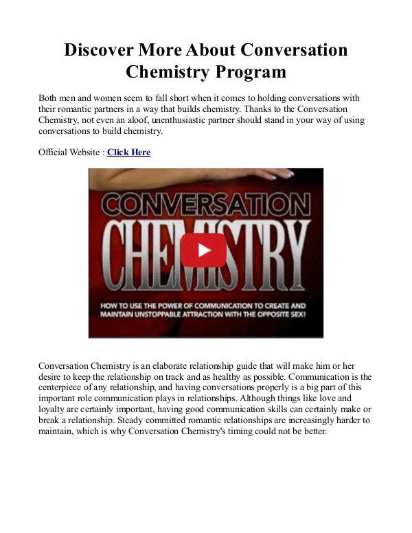 Conversation Chemistry Pdf