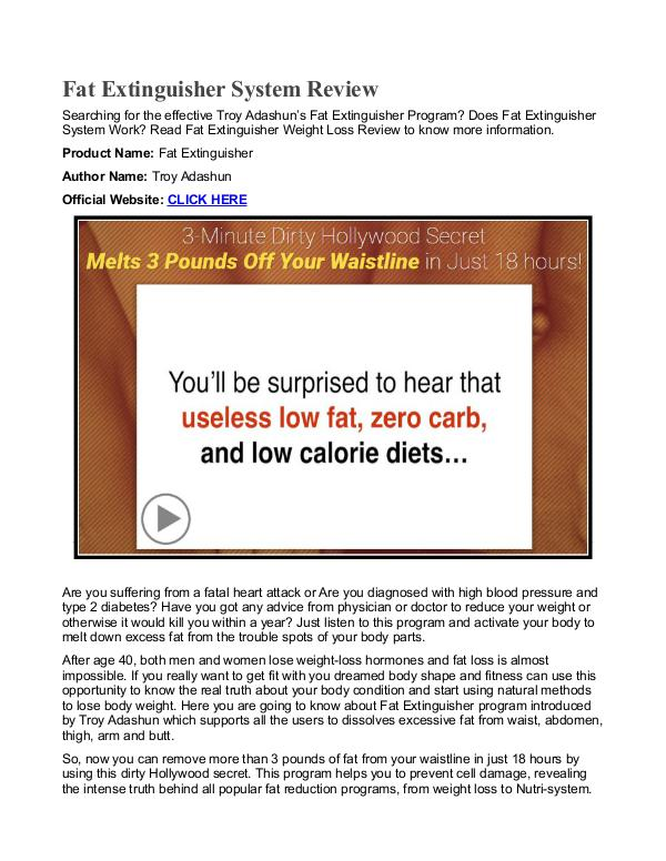 Fat Extinguisher PDF / Diet Is This Weight Loss Free Download
