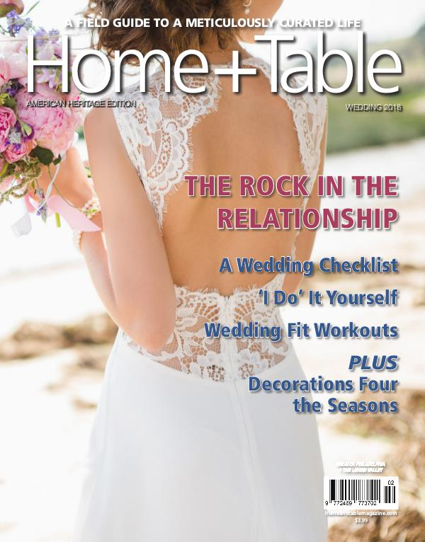 Home and Table Magazine: Greater Philadelphia Edition Wedding 2018