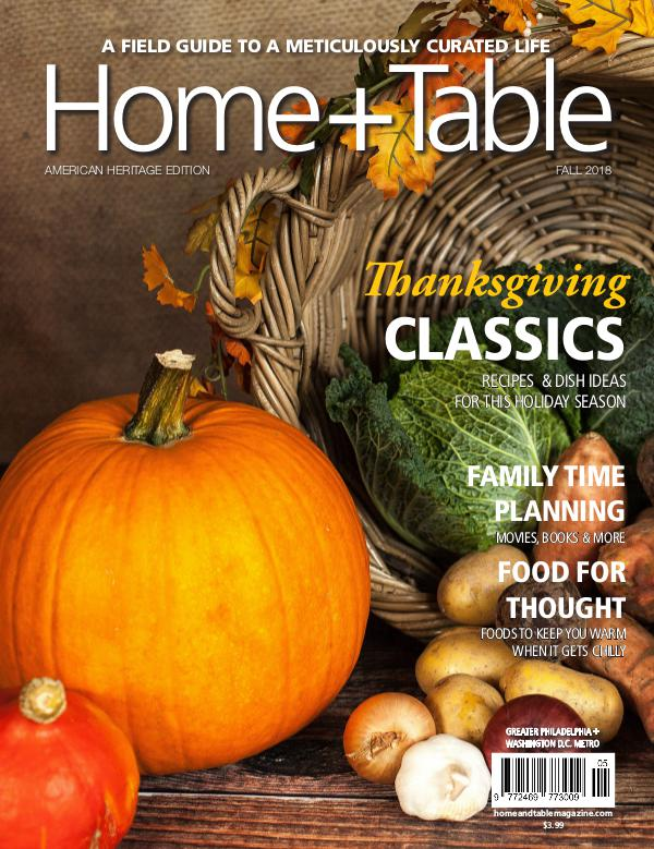 Home and Table Magazine: Greater Philadelphia Edition Fall Issue 2018