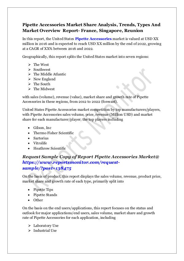 Machinery and Equipments Pipette Accessories Market Share Analysis, Trends,