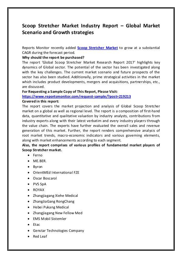 Scoop Stretcher Market Industry Report – Global Ma
