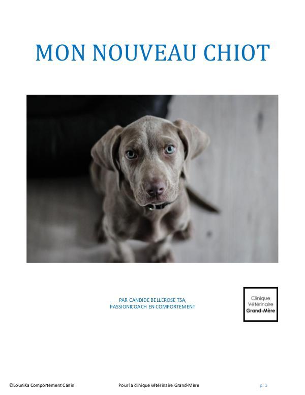 Mon nouveau chiot Nouveau chiot ebook