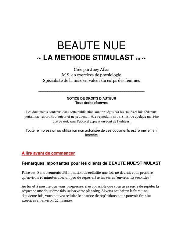 Libre De Cellulite / La Méthode Symulast PDF Télécharger Libre Programme video complet