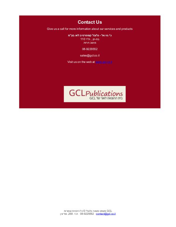 GCL Newsletter Newsletter 211 May 3