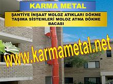 Karma Metal-Moloz Atma Dokme Bosaltma Bacasi Sutu Kulesi