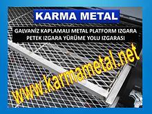 Metal platform izgaralar galvaniz kaplama yurume yolu izgarasi