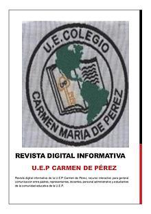 Revista Digital Informativa U.E.P Carmen de Pérez