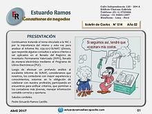 Boletín de costos ER 014 del CPC. Estuardo Ramos