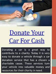 car donation cash back