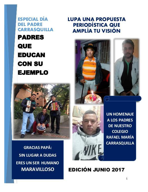 CARRASQUILLA CELEBRANDO A LOS PADRES JUNIO 2017
