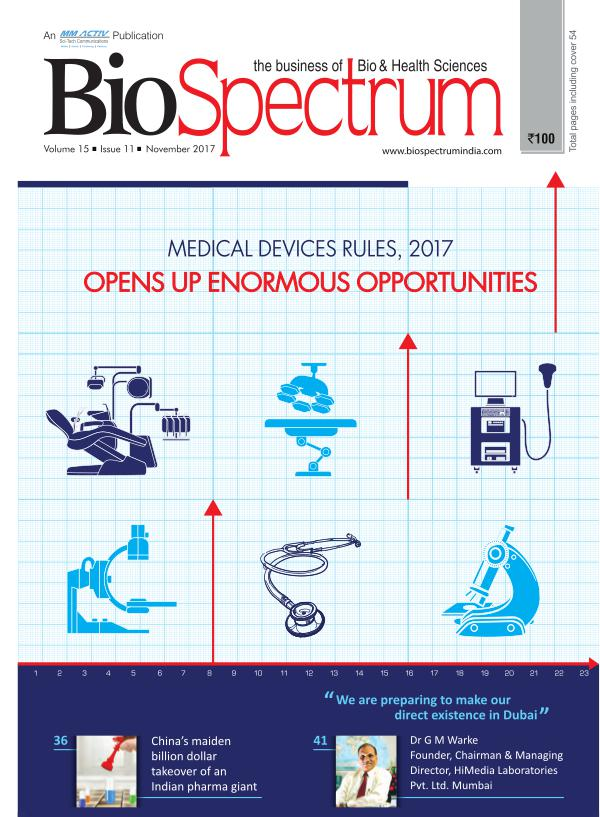 BioSpectrum India Magazine November issue BioSpectrum India Magazine