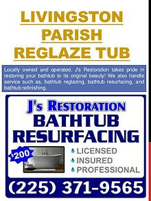 Baton Rouge tub resurfacing