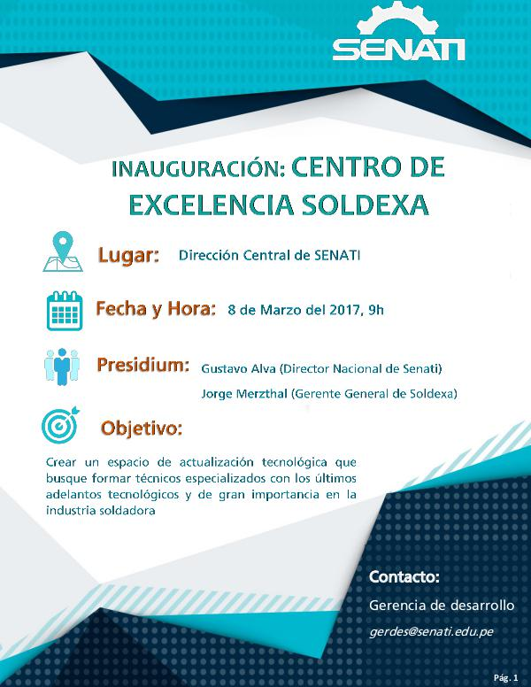 Inauguración Centro de Excelencia SOLDEXA Centro de Excelencia Soldexa