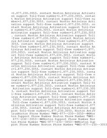 norton antivirus activation +1.877.230.3053.support number