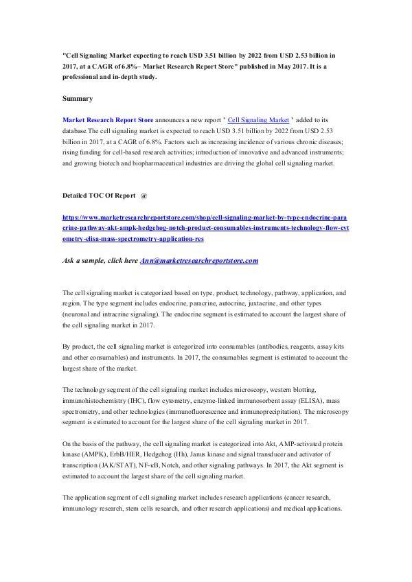 Cell Signaling Market