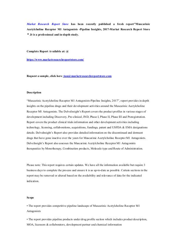 Muscarinic Acetylcholine Receptor M1 Antagonists -