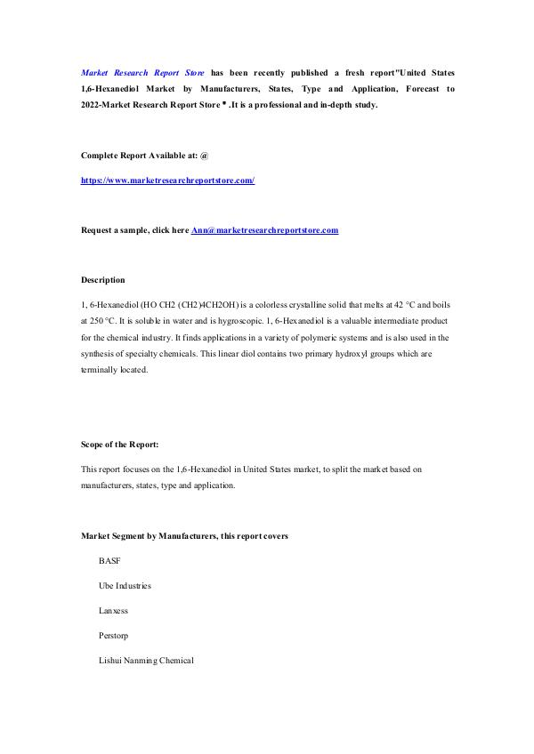 United States 1,6-Hexanediol Market by Manufacture