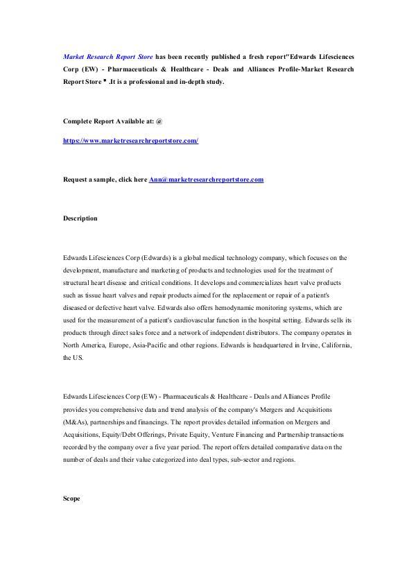 Edwards Lifesciences Corp (EW) - Pharmaceuticals &