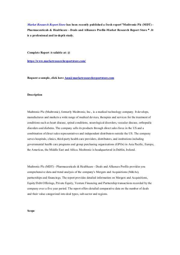 Medtronic Plc (MDT) - Pharmaceuticals & Healthcare