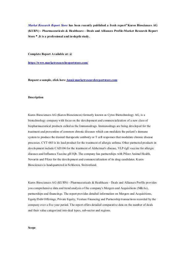 Kuros Biosciences AG (KURN) - Pharmaceuticals & He