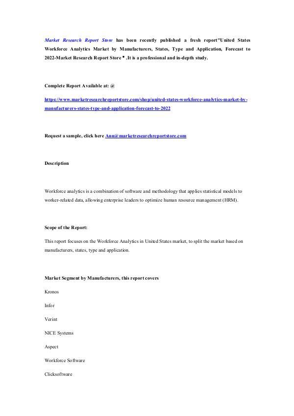 United States Workforce Analytics Market by Manufa